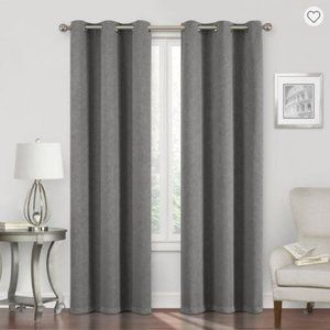 Energy Saving Black Out Curtains- Grey